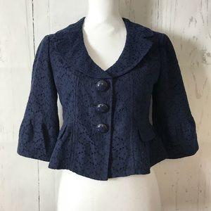 Nanette Lepore peplum jacket peasant sleeve